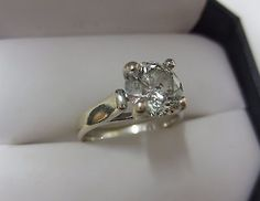 jewelry: 14KT White Gold 2.00 ct Round Diamond Ring (Size 5.0)  #Jewelry - 14KT White Gold 2.00 ct Round Diamond Ring (Size 5.0) ...