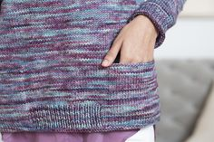 Cushman RAGLAN PULLOVER WITH POCKETS Designed by Isabell Kraemer | Rios in Lotus color.