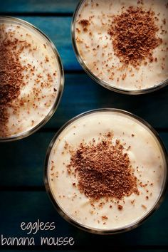 eggless banana mousse recipe with step by step photos - a quick no cook dessert recipe of banana mousse.    desserts, cakes and muffins are made at home once or twice a week. so when i have