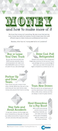 Truck Driver Wages  Infographic Rigs And Semi Trucks