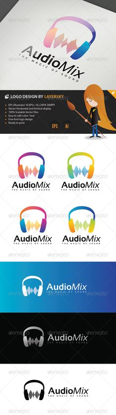 Audio Mix Logo — Vector EPS #music #mixer • Available here → https://graphicriver.net/item/audio-mix-logo/4254029?ref=pxcr