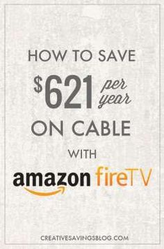 With streaming sites, subscription services, and special bundles are popping up all over the place, it`s easier than ever to say goodbye to cable, but how do you know if these cable TV alternatives are even worth it? Learn how to save $621 per year simply by cutting cable and using Amazon Fire TV instead!