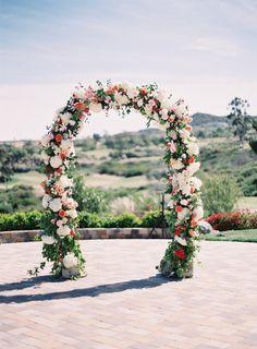 Floral arch: http://www.stylemepretty.com/2014/09/16/romantic-hillside-wedding-in-san-clemente/   Photography: Kurt Boomer - http://kurtboomer.com/