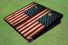 American Flag Theme Cornhole Boards on Etsy, $150.00