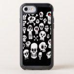 Fun Hand Drawn Cartoon Skulls Speck iPhone Case #halloween #happyhalloween #halloweenparty #halloweenmakeup #halloweencostume