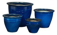 Blue Siamese Pots - Pots & Planters - Garden | Jayson Home. Starting at nine dollars.