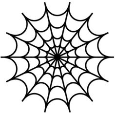 Spider Web Clipart Image Creepy Halloween Graphic