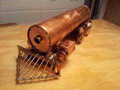 I am building a steam locomotive out of copper. To watch the progress go to my blog http://precisioncopperart.blogspot.com