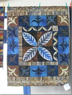 Donna Ward quilt design seen at a show and tell in New Zealand