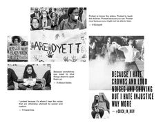 The idea for this zine came when I read an anonymous Facebook post on a friend's page several months ago. The post was about why protest matters. I shared the words on my own Facebook page and aske…