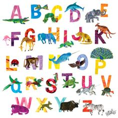 Illustrated Alphabet By Eric Carle