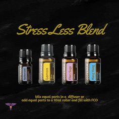 Stress Less Essential Oil Blend Spikenard Lemon Clary Sage Ylang Ylang
