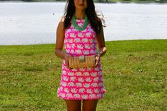 Lilly Pulitzer Pop Pink Tusk in the Sun featuring Francesca's Collections, Tory Burch, and J.Crew Factory