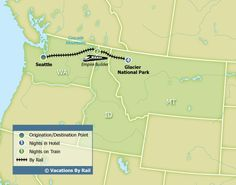 Empire Builder, Glacier National Park from Seattle :: Vacations By Rail