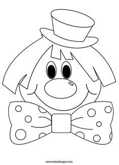 Clown-by-color - Easter Colouring Pages, Adult Coloring Pages, Coloring Books, Drawing For Kids, Art For Kids, Circus Activities, Clown Crafts, Clown Party, Clown Faces