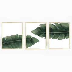 Bring the tropics into your home with this set of three tropical palm leaf art print. This listing includes three prints to be displayed next to each other.