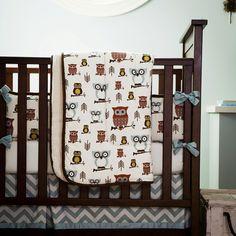 Retro Owls Crib Comforter 500x500 image #adrienne