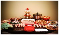 Christmas party food table...