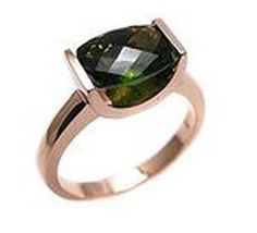 Green tourmaline ring . by jazzngem on Etsy https://www.etsy.com/listing/85483144/green-tourmaline-ring