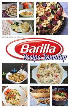 Barilla Recipe Round Up - Delicious Pasta Recipes you can make with Barilla or any Pasta!