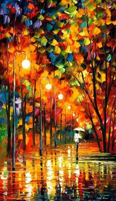 Long Alley - Leonid Afremov