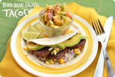 Black Bean Falafel Tacos via @Mary Makes Dinner | www.MaryMakesDinner.com  #Vegan #Vegetarian #MeatlessMonday