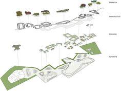 Groene Kamer conceptual axonometry | Lola Landscape Architects