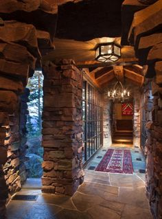 """This dreamy mountain retreat called the """"Great Northern Lodge"""" was designed by Centre Sky Architecture, located in Whitefish, Montana. Luxury Homes Interior, Interior And Exterior, Luxury Apartments, Interior Design, Interior Ideas, Log Cabin Homes, Log Cabins, Mountain Homes, Rustic Interiors"""