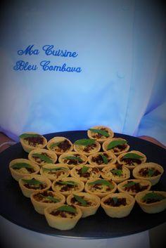 Bouchées Apéritives Tomates Séchées et Basilic - Ma Cuisine Bleu Combava