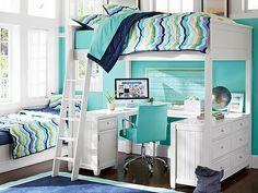 I love the PBteen Beadboard Groovy Bedroom on pbteen.com
