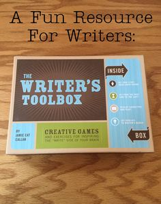 Needing some writing inspiration and maybe a bit of fun?  The Writer's Toolbox is my favorite 'game' to use for both!  Helping to expand my creativity and giving me 'physical' items to create with, I've been able to have fun with creative writing and play around with storylines I would never have thought of before!  #affiliate