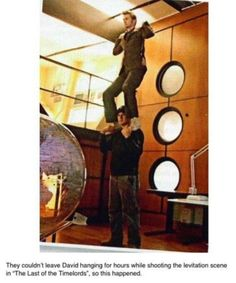 The last of the time lords, levitation scene