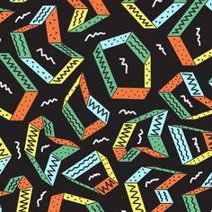 Tim Colmant e o Paintbrush ▲ www.olhaquemassa.com #illustration #pattern #paintbrush