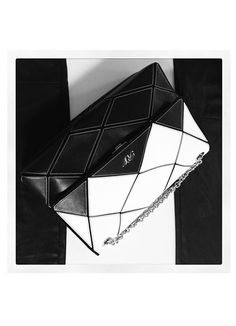Roger Vivier's Prismick Zig Zag black and white leather prismick shoulder bag