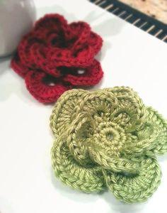 Wagon Wheel Flower #crochetcrafts #crochets