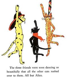 Pickles the Fire Cat, Jenny Linski, Florio - Esther Averill characters .. dancing the sailor's hornpipe