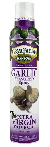 Mantova GrandAroma Extra Virgin Olive Oil Flavored Spray Garlic  8 fl oz * Read more reviews of the product by visiting the link on the image.