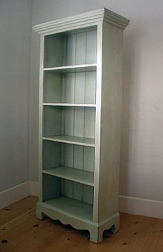 Could redo my bookcase like this with crown molding, sculpted bottom