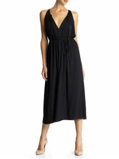 jersey dress...want this cut in pastels with a cardi for Spring!