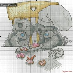 BEAR. PART 15 / Schemes cross stitch / PassionForum - master classes in needlework