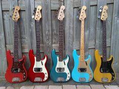1950s Fender P Basses