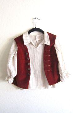 Toddler Velvet Hobbit Pirate Poet Waistcoat Vest by modelarose, $23.00  Everyone loves little Hobbits