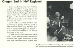 1961-62 Oregon bowling team. From the 1962 Oregana (University of Oregon yearbook). www.CampusAttic.com