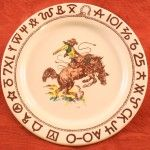 Complete your western themed kitchen with these lone star Texas tableware products. Western dinnerware sets from Sky Ranch, True West, and Pickard China. Vintage Western Decor, Rustic Decor, Stoneware Dinnerware, Dinnerware Sets, Dinner Sets, Dinner Dishes, Texas Home Decor, Western Bedding, San Gabriel