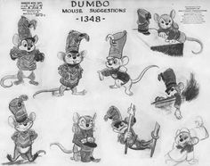 Model sheet for Timothy Mouse from Dumbo (1941)