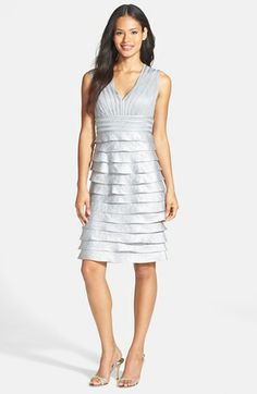 Adrianna Papell Tiered Charmeuse Sheath Dress available at #Nordstrom