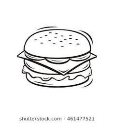Best Hamburger Junk Food Burger Coloring Pages for kids