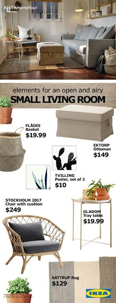 We can all afford to have more space. These organzing and multi-function solutions will open up your cluttered living room without going over your budget.