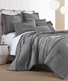 be01bd52a1 Take a look at this Dark Gray Collete Eight-Piece Comforter Set today!  Ruffled