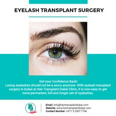 Get your Confidence Back! Losing eyelashes should not be a worry anymore. With eyelash transplant surgery in Dubai at Hair Transplant Dubai Clinic, it is now easy to get more permanent, full and longer set of eyelashes. Eyebrow Transplant, Fue Hair Transplant, Losing Hair Women, Hair Loss Women, Hair Loss Clinic, Bad Wigs, Hair Loss Medication, Dramatic Hair, Hair Thickening